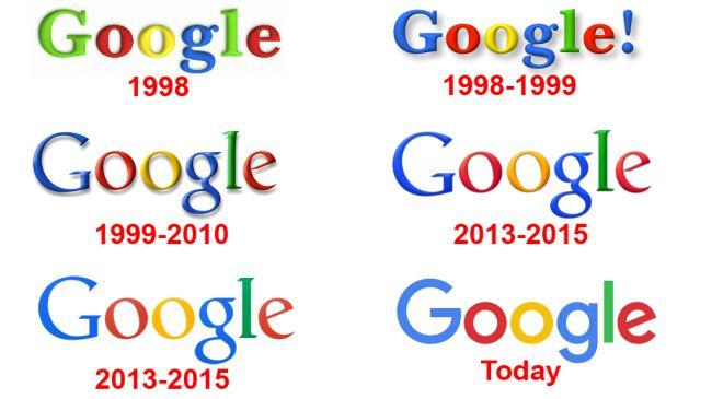 logo google cambiamento negli anni