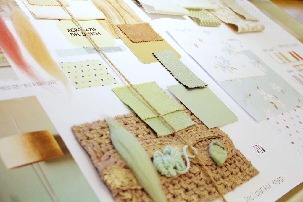 moodboard creativa toni del verde menta per tessile casa