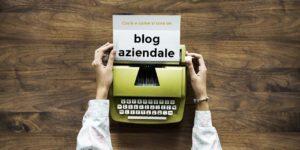 cos' è e come si scrive un blog aziendale - macchina da scrivere gialla