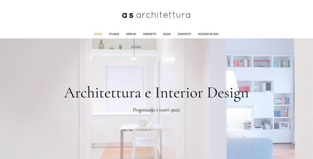 sito web architetto roma esempio